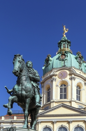 elector: Statue Friedrich Wilhelm I  - elector of Brandenburg before Charlottenburg Palace