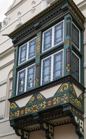 decorative balcony: decorative balcony on the house in the city Celle, Germany