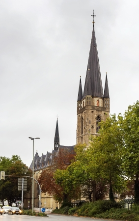 settles: Sacred Heart church settles down in the downtown of Paderborn, Germany