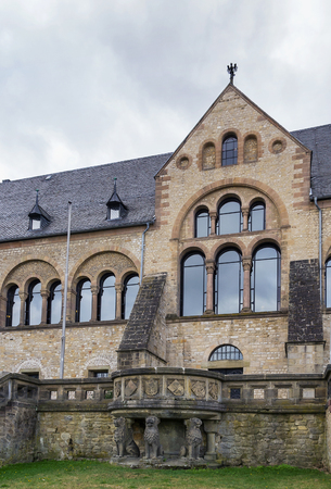 11th century: Imperial Palace in Goslar  is the greatest, oldest and best-preserved secular building of the 11th century in Germany Stock Photo