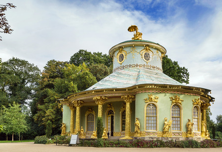 The Chinese House is a garden pavilion in Sanssouci Park in Potsdam, Germany