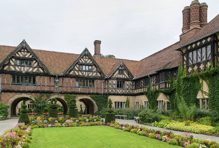Cecilienhof is a palace in Potsdam, Brandenburg, Germany. Cecilienhof was the last palace built by the Hohenzollern family that ruled Prussia and Germany until 1918.