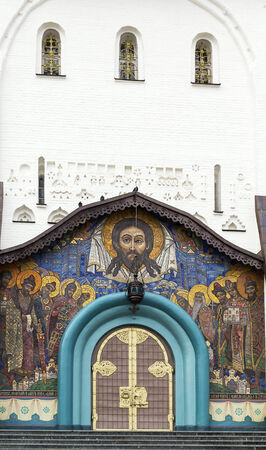 foremost: Portal of Trinity Cathedral. Holy Dormition Pochayiv Lavra has for centuries been the foremost spiritual and ideological centre of various Orthodox denominations in Western Ukraine