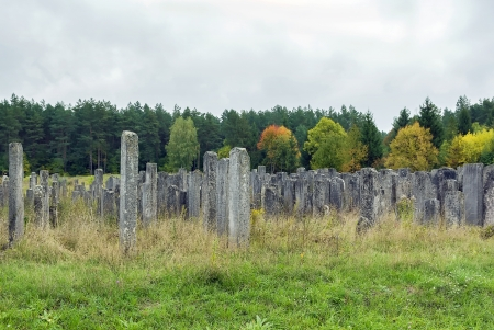 jewish town: the old Jewish cemetery on the outskirts of the town of Brody, Lviv region, Ukraine
