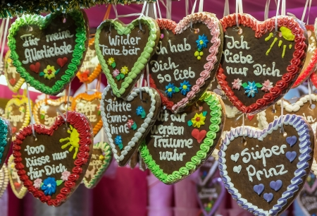 Christmas gingerbreads at Christmas market in Vienna