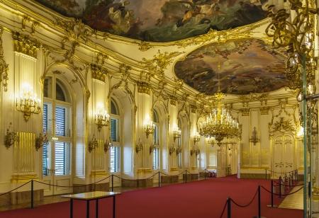 Schloss Schönbrunn ist eine ehemalige kaiserliche Sommerresidenz in Rokoko moderne Wien, Österreich.