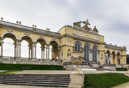gloriette: Gloriette in  Schonbrunn Palace Garden in Vienna, Austria is built in 1775 as a temple of renown Editorial