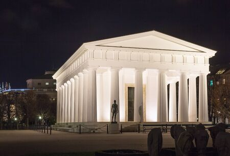At the center of the park stands the neoclassical Theseus Temple, completed in 1821. This small-scale replica of the Temple of Hephaestus in Athens Stock Photo - 24721461