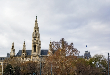 neo gothic: town hall of Vienna was designed in the neo gothic style and built between 1872 and 1883, Austria