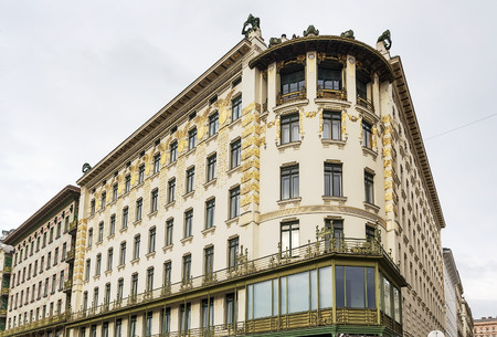 wagner: building in Art Nouveau style constructed by the architect Otto Wagner, Vienna