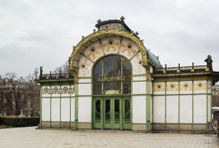 wagner: The Art Nouveau pavilion on Karlsplatz was erected by Otto Wagner in 1898 in the course of Stadtbahn construction. Editorial