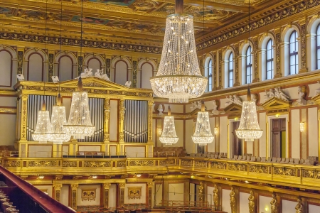 concert hall: The Wiener Musikverein is a concert hall in the Innere Stadt borough of Vienna, Austria. It is the home to the Vienna Philharmonic orchestra. Great Golden Hall Editorial