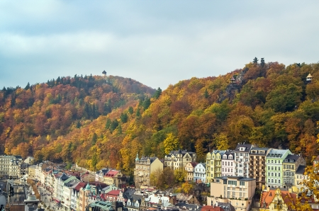 karlovy vary: a view on the hills surrounding Karlovy Vary