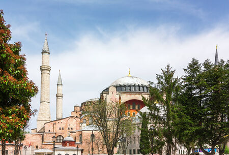 patriarchal: Hagia Sophia is a former Orthodox patriarchal basilica, later a mosque, and now a museum in Istanbul, Turkey. Stock Photo