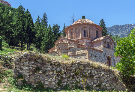 peloponnese: The Church of Agioi Theodoroi in Mystras Peloponnese, Greece