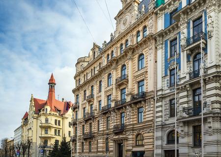 herrliche Art-Nouveau-Haus im Zentrum von Riga, Lettland (Alberta Straße 13) Editorial