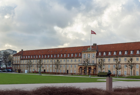 the next life: Rosenborg Barracks one of two barracks of the Royal Danish Life Guard, is located next to Rosenborg Castle in Copenhagen, Denmark.