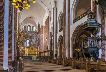 nave: The central nave of Roskilde Cathedral, Denmark