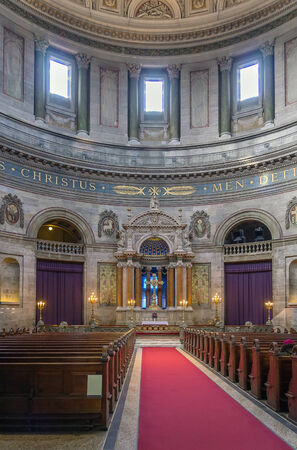 popularly: Frederiks Church popularly known as The Marble Church for its architecture, is an Evangelical Lutheran church in Copenhagen, Denmark. Editorial
