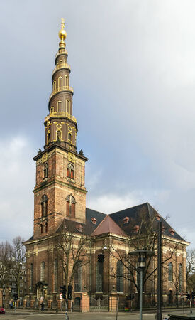 Church of Our Saviour is a baroque church in Copenhagen, Denmark, most famous for its corkscrew spire with an external winding staircase that can be climbed to the top Stock Photo - 27253863