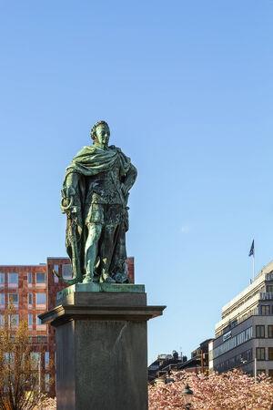 karl: Statue of Karl XIII in Stockholm city center, Sweden Stock Photo