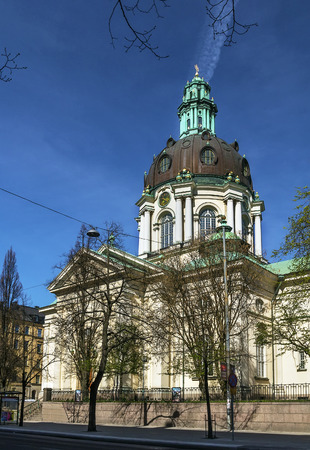 Gustav Vasa Church is relatively modern church in new baroque style was consecrated in 1906, stockholm, Sweden photo