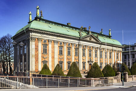 maintains: The House of Nobility in Stockholm, Sweden, maintains records and acts as an interest group on behalf of the Swedish nobility.