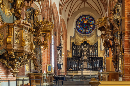 Church of St. Nicholas is the oldest church in Gamla Stan, the old town in central Stockholm, Sweden. Interior