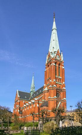 johannes: St. Johannes Church was built in 1890 in central Stockholm, Sweden