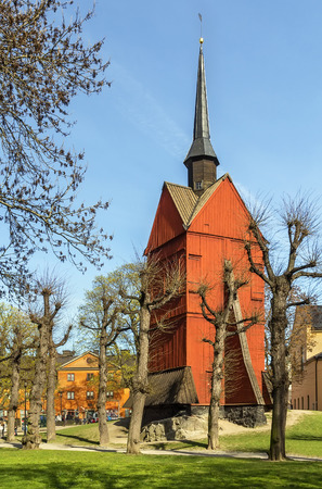 Bell Tower of St. Johannes Church was built in the year 1692 in central Stockholm, Sweden
