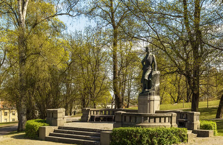 The statue of Gunnar Wennerberg in Uppsala, Sweden. Created 1912 by the Swedish artist Theodor Lundberg  Фото со стока