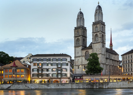 grossmunster cathedral: The Grossmunster is a Romanesque-style Protestant church in Zurich, Switzerland. It is one of the three major churches in the city