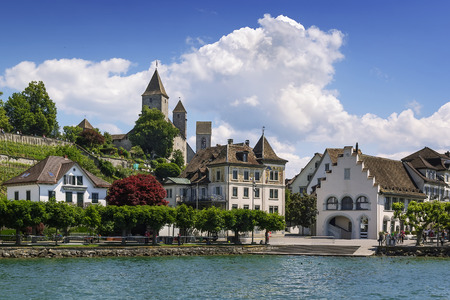 Rapperswil as seen from Lake Zurich, Switzerland