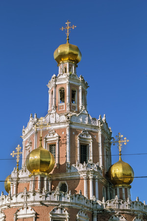 Church of the Intercession at Fili is constructed in 1689-1694 in style of the Moscow baroque, Moscow, Russia