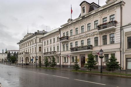oficina antigua: Edificio histórico en la calle Kremlin en Kazan, Rusia