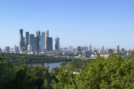 international business center: Moscow International Business Center. View from Sparrow hills,Russia