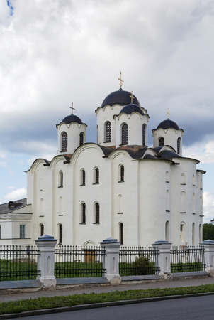 veliky: St Nicholas' Cathedral is the oldest cathedral in Russia among those devoted to St. Nicholas, Veliky Novgorod, Russia Stock Photo