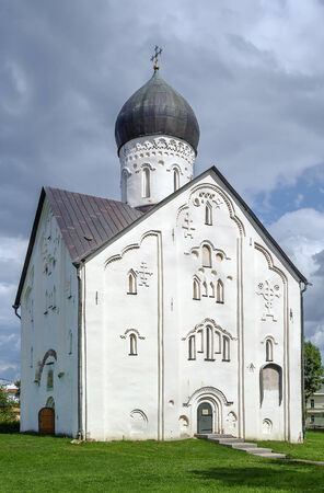 veliky: Church of the Transfiguration of Our Savior on Ilyina Street was build in 1374 in Veliky Novgorod, Russia. The church is world famous for its wall-painting by Theophanes the Greek.