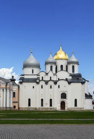 Cathedral of St. Sophia The Wisdom Of God is one of Russias oldest stone buildings was build in 1050 in Veliky Novgorod, Russia photo