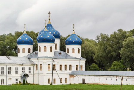 veliky: Church of the Exaltation of the Cross in St. Georges (Yuriev) Monastery, Veliky Novgorod, Russia
