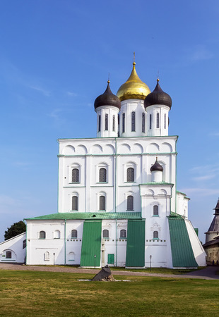 The Trinity Cathedral is located in the Pskov Krom or Kremlin.The current building was built beginning in 1691 and consecrated in 1699 photo