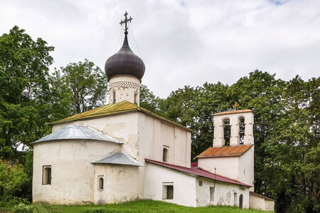 Church New Ascension was built in 1375  in Pskov city center, Russia photo