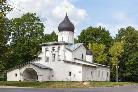 Church of the Resurrection of Christ so Stadishcha is Orthodox Church in Pskov, Russia.  photo