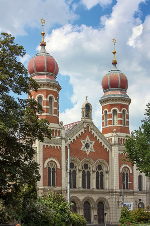 The Great Synagogue in Plzen (Pilsen), Czech Republic is the second largest synagogue in Europe Stock Photo