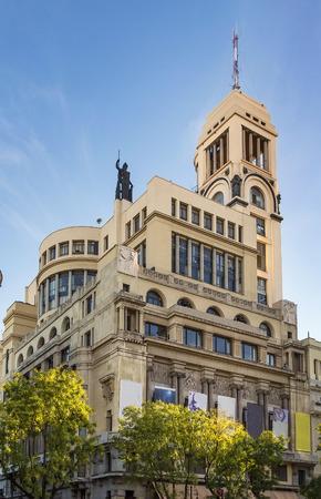Circulo de Bellas Artes is a building located in central Madrid, Spain Stok Fotoğraf