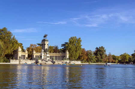 The Monument to King Alfonso XII is located in Buen Retiro Park, Madrid, Spain.
