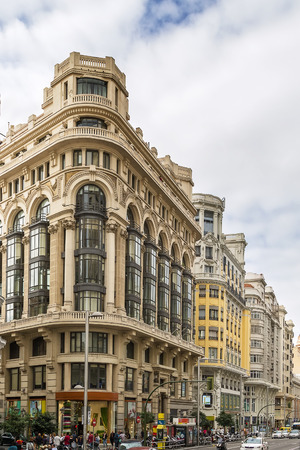 literally: Gran Via (literally Great Way) is an ornate and upscale shopping street located in central Madrid, Spain