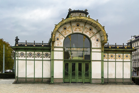 wagner: The Art Nouveau pavilion on Karlsplatz was erected by Otto Wagner in 1898 in the course of Stadtbahn construction, Vienna