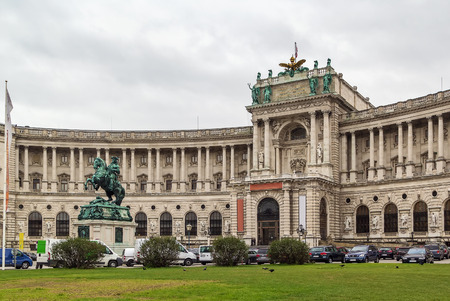 burg: Neue Burg (New Castle) of Hofburg Palace was completed in 1913, Vienna