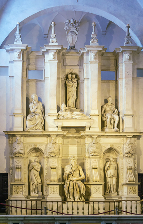 vincoli: The Moses (c. 1513–1515) is a sculpture by the Italian High Renaissance artist Michelangelo Buonarroti, housed in the church of San Pietro in Vincoli in Rome.